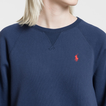 Женская толстовка Polo Ralph Lauren Embroidered Logo Seasonal Crew Neck Cruise Navy фото- 2