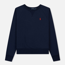 Женская толстовка Polo Ralph Lauren Embroidered Logo Seasonal Crew Neck Cruise Navy фото- 0