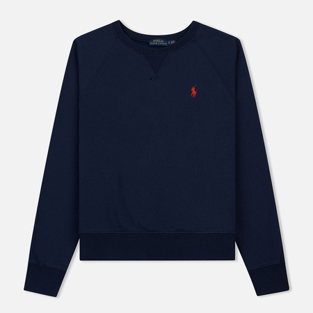 Женская толстовка Polo Ralph Lauren Embroidered Logo Seasonal Crew Neck Cruise Navy