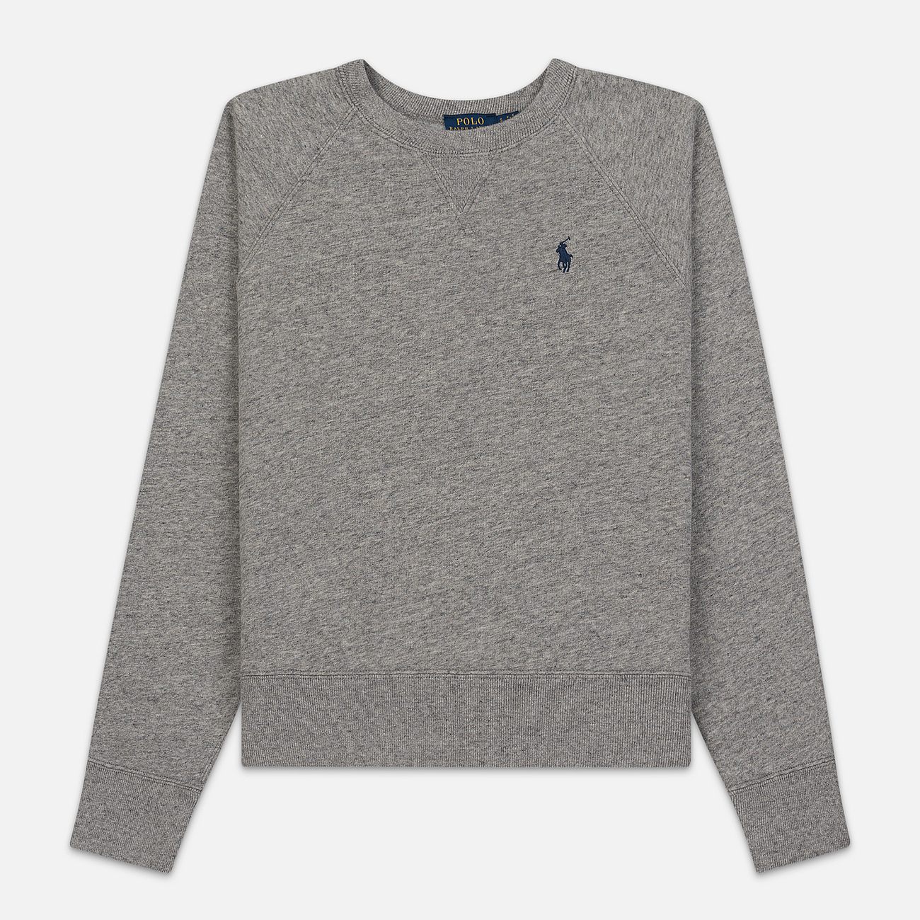 Женская толстовка Polo Ralph Lauren Embroidered Logo Seasonal Crew Neck Dark Vintage Heather