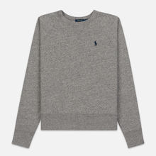 Женская толстовка Polo Ralph Lauren Embroidered Logo Seasonal Crew Neck Dark Vintage Heather фото- 0
