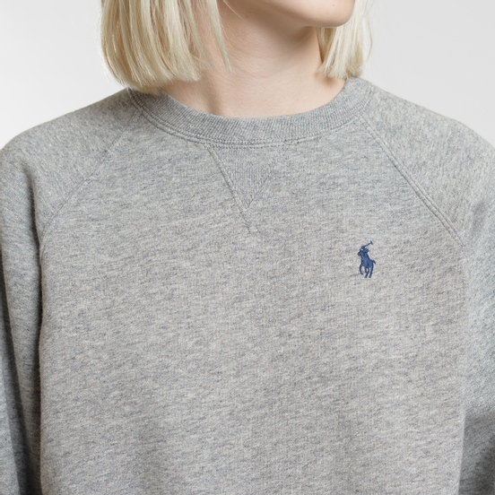 Женская толстовка Polo Ralph Lauren Embroidered Logo Seasonal Crew Neck Dark Vintage Heather