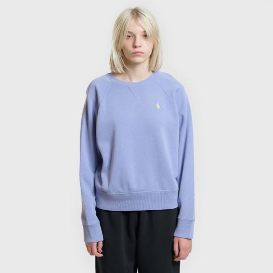 Женская толстовка Polo Ralph Lauren Embroidered Logo Seasonal Crew Neck East Blue