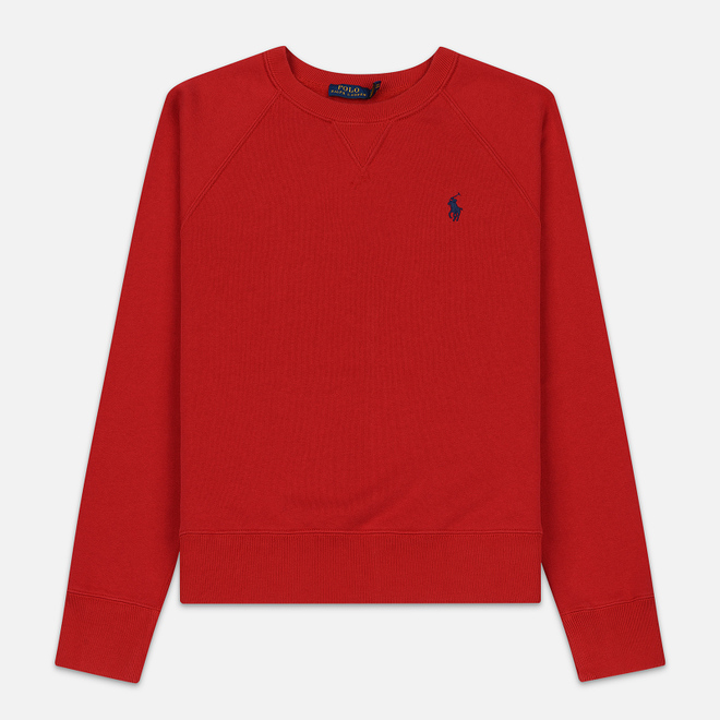 Женская толстовка Polo Ralph Lauren Embroidered Logo Seasonal Crew Neck Red