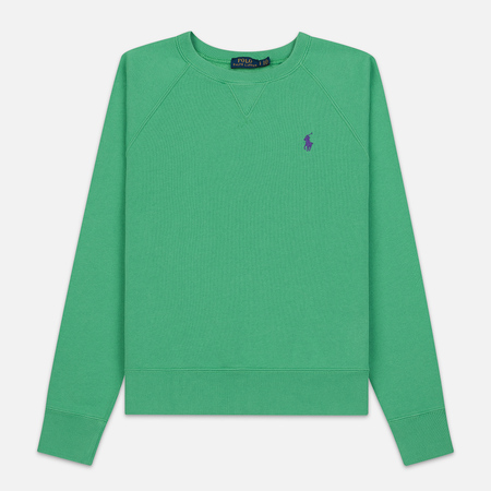 54558418d9598 Женская толстовка Polo Ralph Lauren Embroidered Logo Seasonal Crew Neck  Vineyard Green