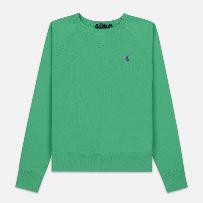 Женская толстовка Polo Ralph Lauren Embroidered Logo Seasonal Crew Neck Vineyard Green