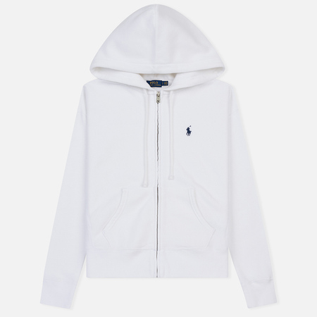 Женская толстовка Polo Ralph Lauren Embroidered Logo Seasonal Full Zip Hoody White