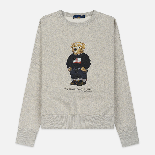 Женская толстовка Polo Ralph Lauren Flag Bear Seasonal Fleece Light Sport Heather