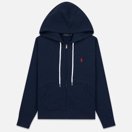 Женская толстовка Polo Ralph Lauren Fleece Full-Zip Hoodie Cruise Navy