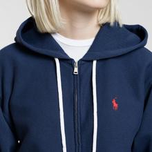 Женская толстовка Polo Ralph Lauren Fleece Full-Zip Hoodie Cruise Navy фото- 2