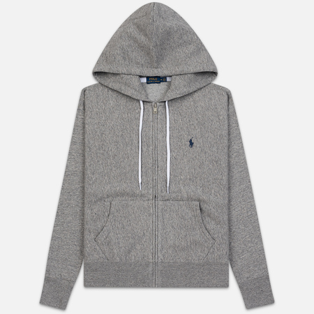 Женская толстовка Polo Ralph Lauren Fleece Full-Zip Hoodie Dark Vintage Heather