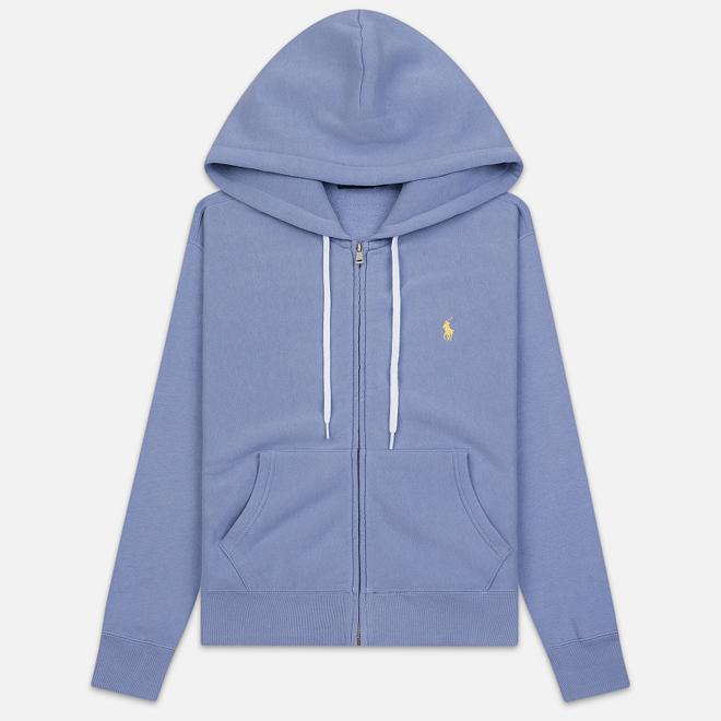 Женская толстовка Polo Ralph Lauren Fleece Full-Zip Hoodie East Blue