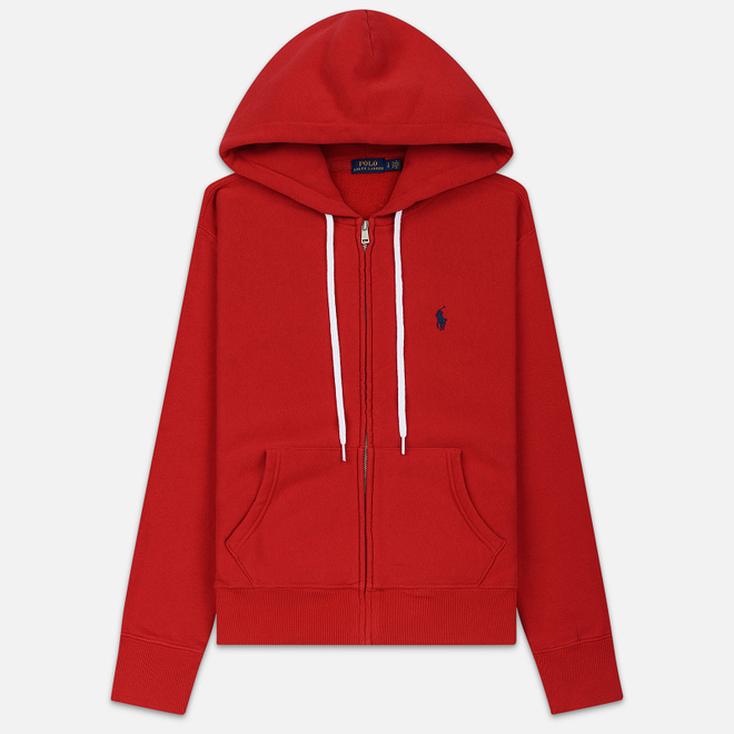 Женская толстовка Polo Ralph Lauren Fleece Full-Zip Hoodie Red