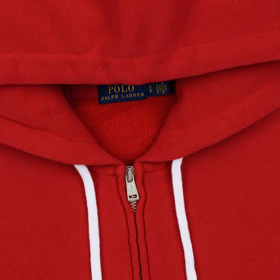 Женская толстовка Polo Ralph Lauren Fleece Full-Zip Hoodie Red