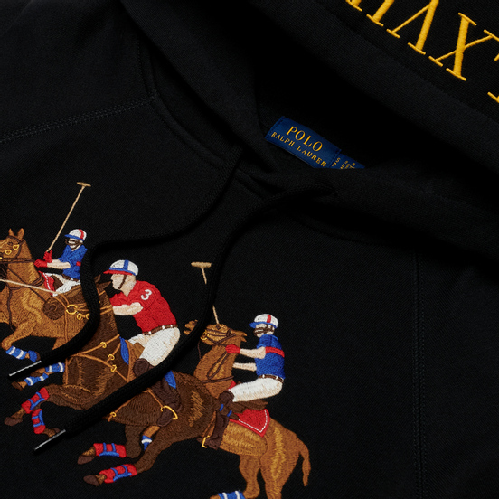 Женская толстовка Polo Ralph Lauren Polo Match Lightweight Seasonal Fleece Hoodie Black
