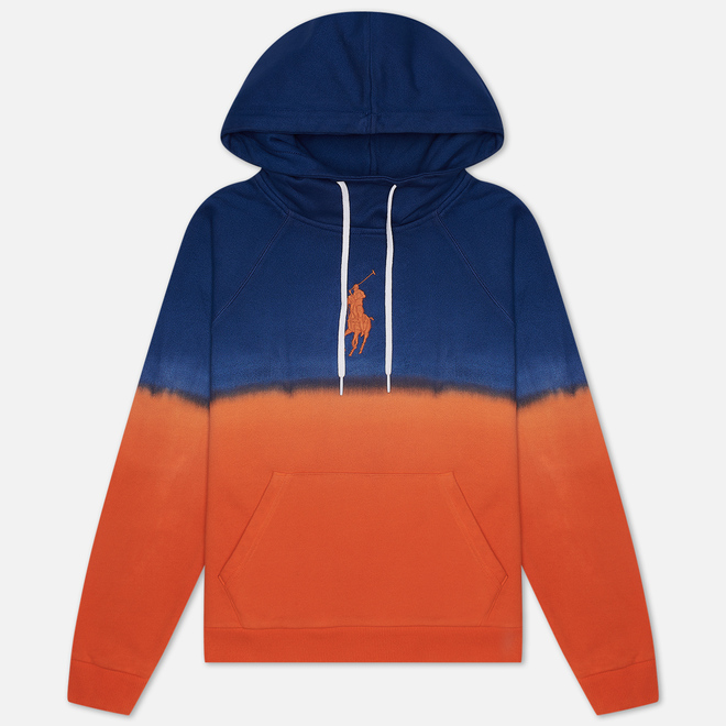 Женская толстовка Polo Ralph Lauren Polo Pony Big Logo Hoodie Ombre Fleece Navy/Orange