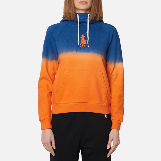 Женская толстовка Polo Ralph Lauren Polo Pony Big Logo Hoodie Ombre Fleece Navy/Orange