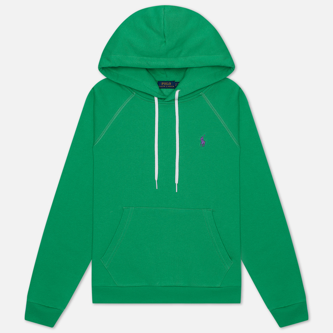 Женская толстовка Polo Ralph Lauren Polo Pony Mini Logo Hoodie Featherweight Fleece Tiller Green