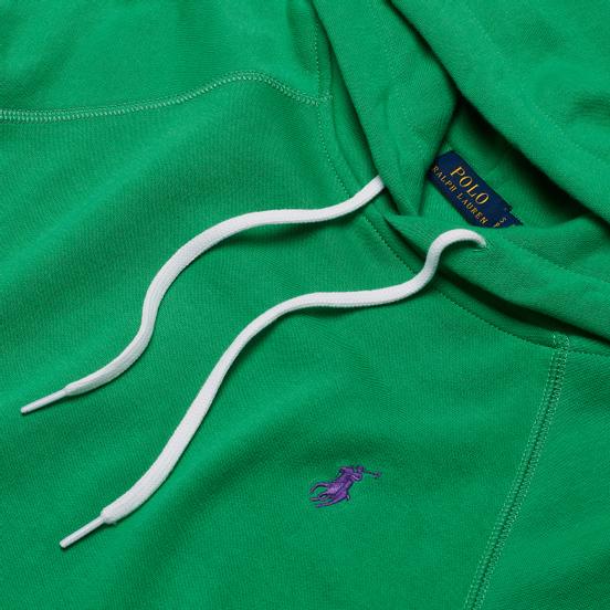 Женская толстовка Polo Ralph Lauren Polo Pony Mini Logo Hoodie Featherweight Fleece Tiller Green