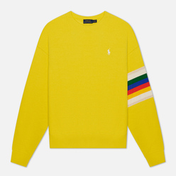 Женская толстовка Polo Ralph Lauren Rainbow Trim Lightweight Seasonal Fleece Lemon Crush