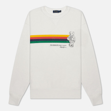 Женская толстовка Polo Ralph Lauren Stripe Bear Lightweight Seasonal Fleece Deckwash White фото- 0