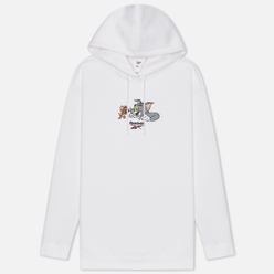 Женская толстовка Reebok x Tom & Jerry Oversize Long Hoodie White