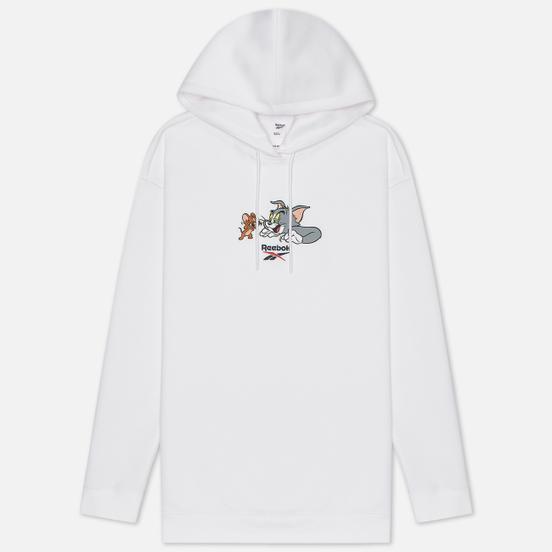 Женская толстовка Reebok x Tom & Jerry Oversize Long Hoodie White