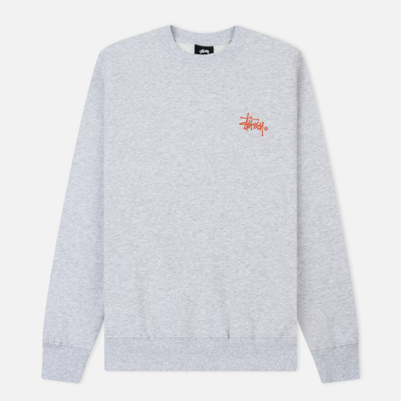 Женская толстовка Stussy Basic Logo Crew Ash Heather