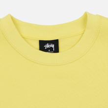 Женская толстовка Stussy Basic Logo Crew Lemon фото- 1