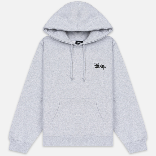 Женская толстовка Stussy Basic Logo Hoodie Ash Heather