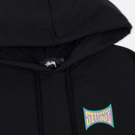 Женская толстовка Stussy Old Skool Raw Edge Hoody Black фото- 1