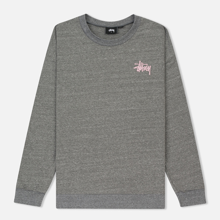 Женская толстовка Stussy Puff Stock Crew Grey Heather