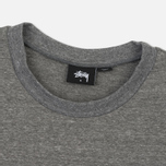Женская толстовка Stussy Puff Stock Crew Grey Heather фото- 1