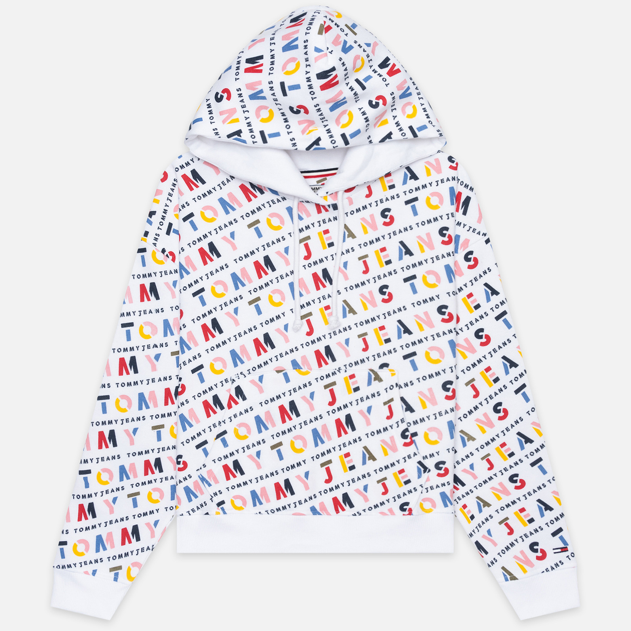 Женская толстовка Tommy Jeans All Over Print Hoodie Classic White/Stencil