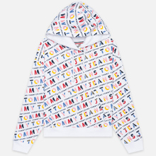 Женская толстовка Tommy Jeans All Over Print Hoodie Classic White/Stencil фото- 0