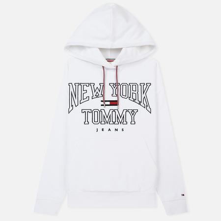 Женская толстовка Tommy Jeans Boyfriend Logo Hoodie Bright White