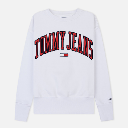 Женская толстовка Tommy Jeans Clean Collegiate Crew Classic White
