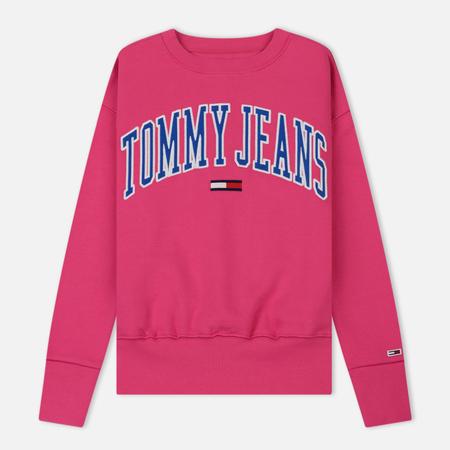 Женская толстовка Tommy Jeans Clean Collegiate Crew Fuchsia Purple
