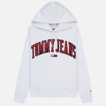 Женская толстовка Tommy Jeans Clean Collegiate Hoodie Classic White