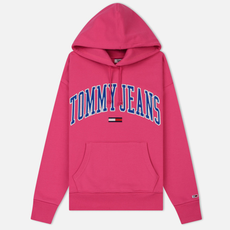 Женская толстовка Tommy Jeans Clean Collegiate Hoodie Fuchsia Purple