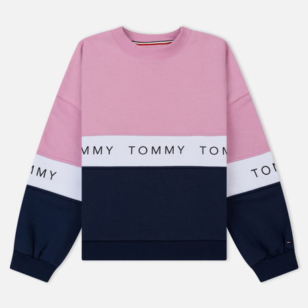 Женская толстовка Tommy Jeans Color Block Black Iris/Multi