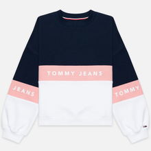 Женская толстовка Tommy Jeans Color Block Crew Neck Classic White/Multicolor фото- 0