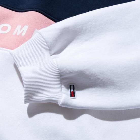 Женская толстовка Tommy Jeans Color Block Crew Neck Classic White/Multicolor