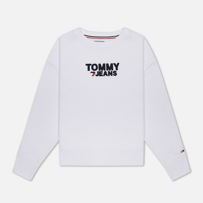Женская толстовка Tommy Jeans Corp Heart Classic White
