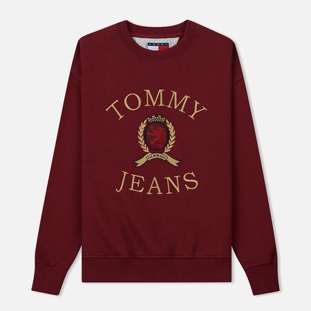 Женская толстовка Tommy Jeans Crest Crew Cabernet