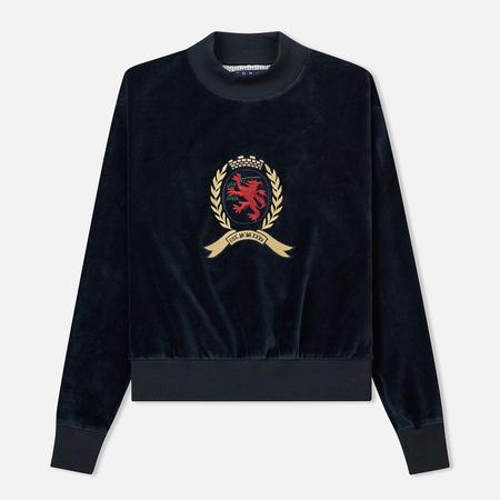 Женская толстовка Tommy Jeans Crest Velvet Crew Dark Sapphire