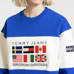 Женская толстовка Tommy Jeans Crew Neck Expedition 6.0 Surf The Web фото- 6