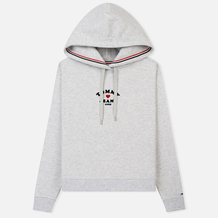 Женская толстовка Tommy Jeans Feminine Logo Hoodie Pale Grey Heather