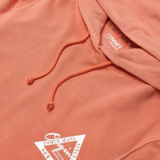 Женская толстовка Tommy Jeans Garment Dyed Logo Hoodie Emberglow