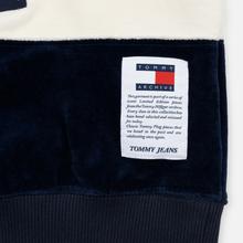 Женская толстовка Tommy Jeans Heritage Mock Neck Velour Navy Blazzer/Multi фото- 6